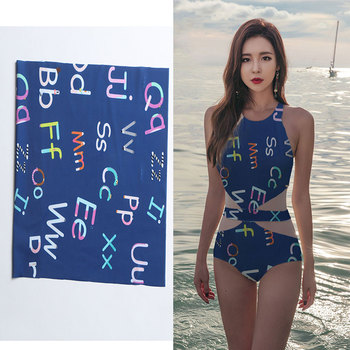 super hot digital printing cotton lycra bathing suit material polyester spandex fabric with customized design