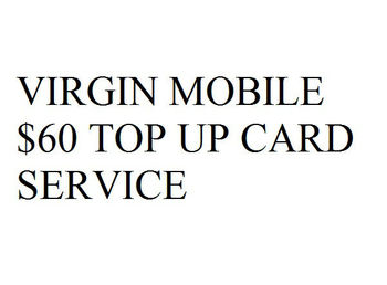 Virgin Mobile $60 Top Up Card Service - Buy Virgin Mobile Top Up Card  Product on Alibaba com