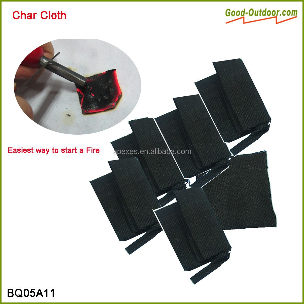 Eco Friendly Cotton Charred Cloth Fire Starter for Survival Kit