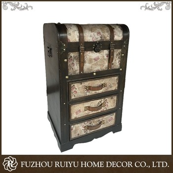 Alibaba antique china OEM wooden chest trunk