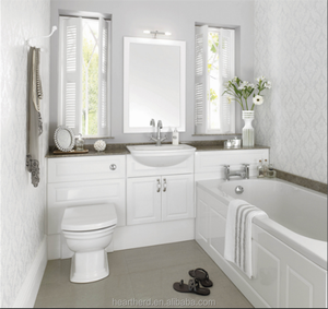 White Laminated PVC 12 Inch Deep Bathroom Mirror Cabinet Vanity Canada