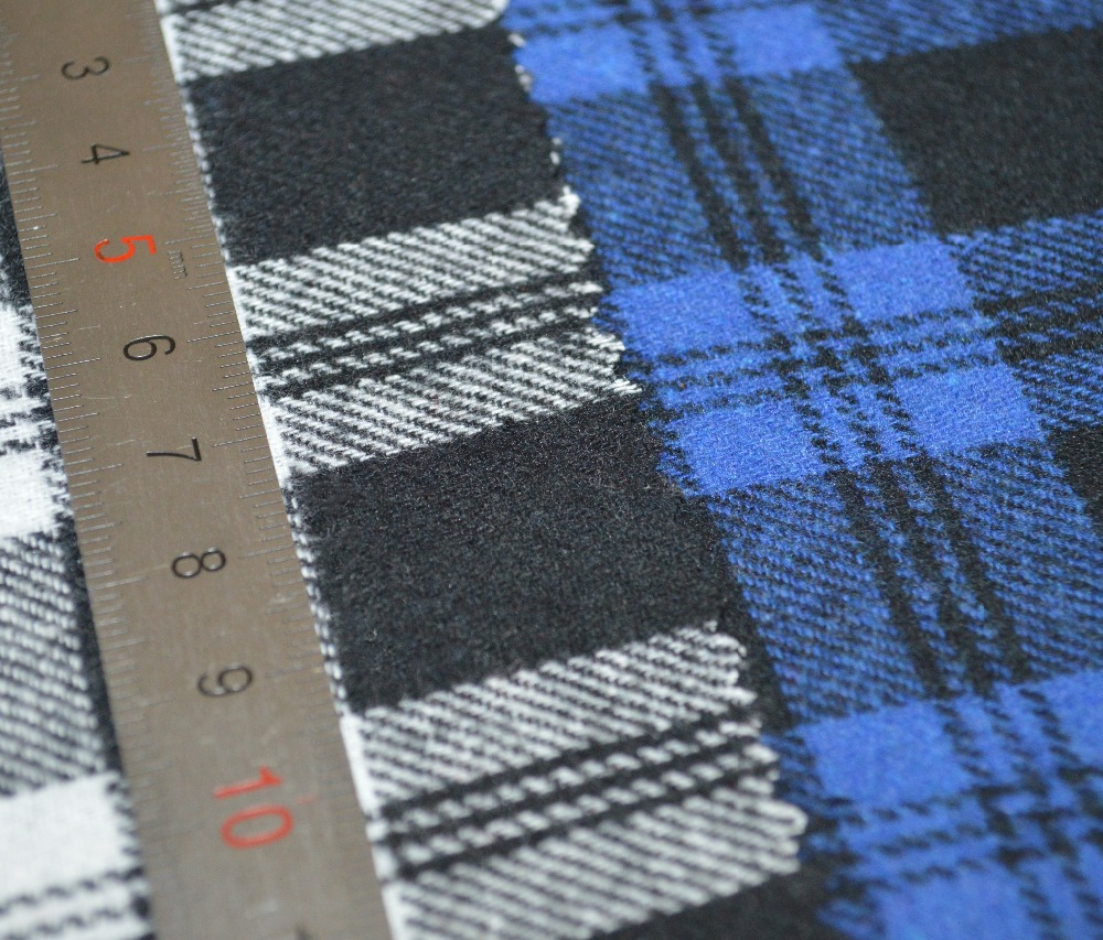 high quality 100% Cotton Flannel Plaid For Garment And Textile Fabric