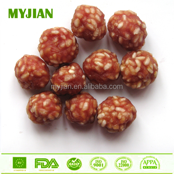 organic dog training treat duck & rice ball best quality dog treat natural duck meat OEM private label dog snack