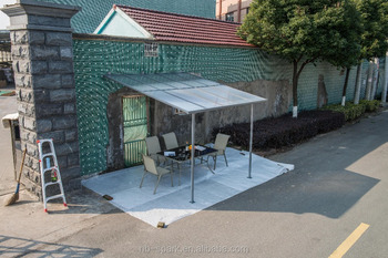 Garden Canopy Door Awning Sunny Shed Pergola Attached Solid Shade