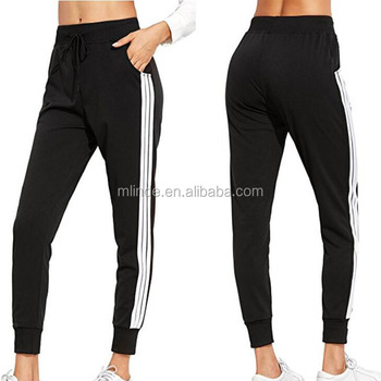 878fcca50d3 Women s Fitness Polyester Yoga Workout Sport Jogger Pants Loose Casual Mid  Waist Black Wholesale Fitness Apparel