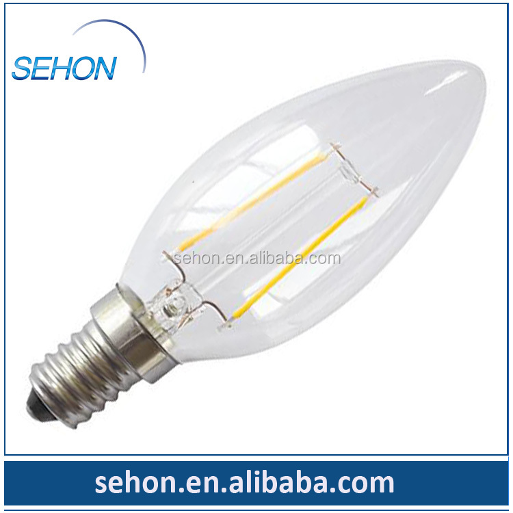 wholesale solar low voltage led lighting filament 12v c35 candle light with high quality