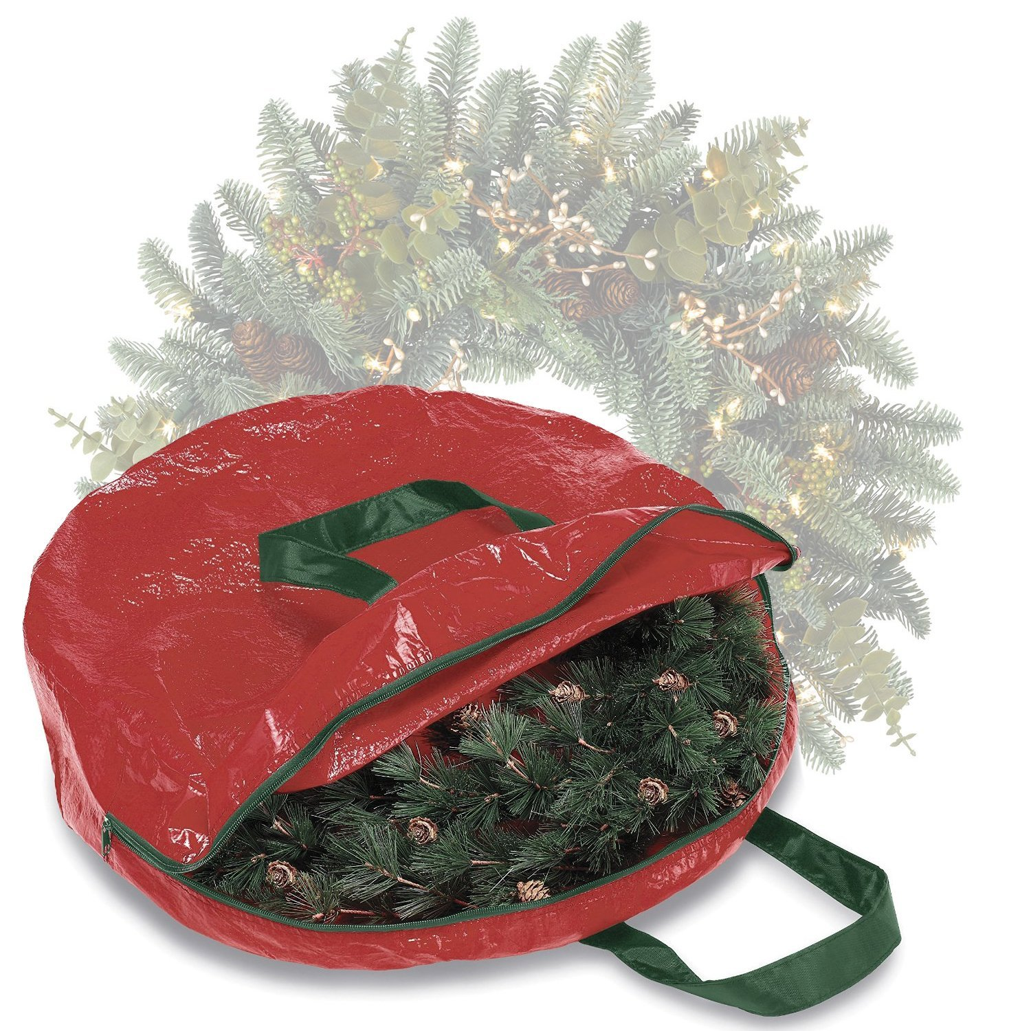 HomeCrate heavy duty Christmas Wreath and Garland Storage Bag - In Red  sc 1 st  Alibaba & Buy Wreath And Garland Storage Bag in Cheap Price on m.alibaba.com