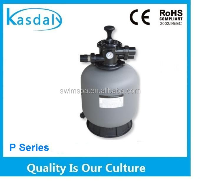Firberglass 1.5 inch Valve Swimming Pool Sand Filter For Water Treatment