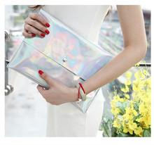 Women Fashion Dazzling Glitter Sparkling Clutch Hangbag Laser Silver Casual Envelope Clutch Evening Bag Bolsas Femininas 5 Color