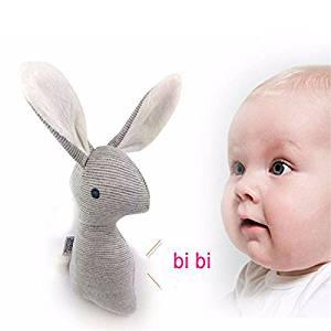 Kize2016 Baby Kids Lovely Soft Rabbit Bell Hand Grasp Toys Bunny Plush Baby Rattle Ring Bell Crib Bed Hanging Animal Kids Toy