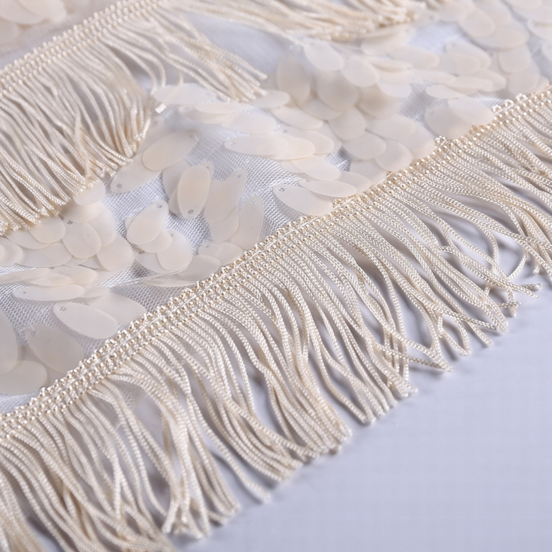 high quality wholesale sequin 3d fringe custom lace fabric beads for ladies clothing