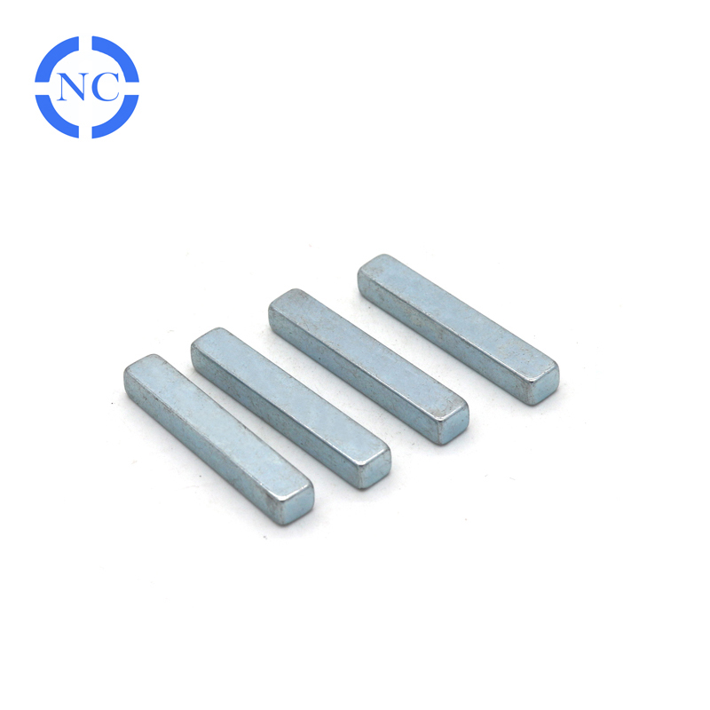 N42 powerful strong zinc coating 40x5x5mm rare earth neodymium stick bar magnet
