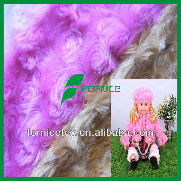 100% polyester knitted pv plush fabric emboss swirl rose plush fabric
