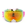 STOCK LOW MOQ protective snow glasses with case cloth safety ski googles