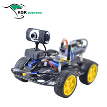 Smart RC Car Wifi 4WD DIY RC Arduinos Robot Car with HD Camera 1.3MP Support PC Mobile Phone Control Monitoring Electric Toys