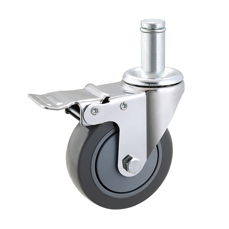 "3"" furniture type office chair caster with grip ring stem"