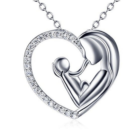 Mother's Day Present treasured gold heart necklace