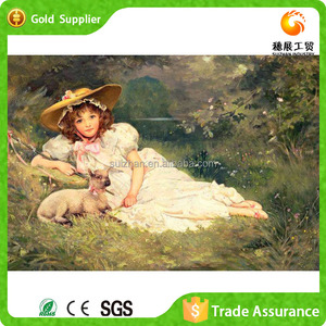 Chinese Embossed Canvas Painting Art With Home Decors