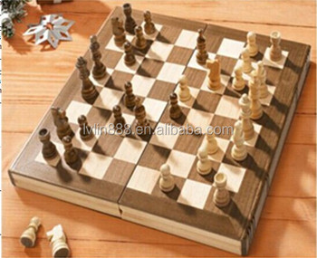 Attractive Deluxe High Gloss Ebony And Maple Veneer Chess Checkers Table    Buy Antique Wood Chinese Chess Set,Wood Chess Set,Folding Wooden Chess Set  ...