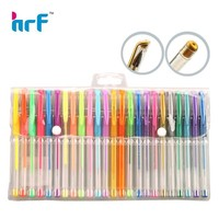 Hot sale colorful gel pen set glitter neon metallic gel pen