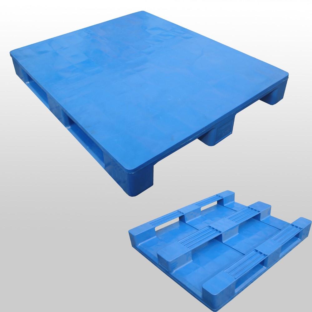 ISO 9001/14001 single face hape steel euro reinforced hdpe plastic hdpe pallet