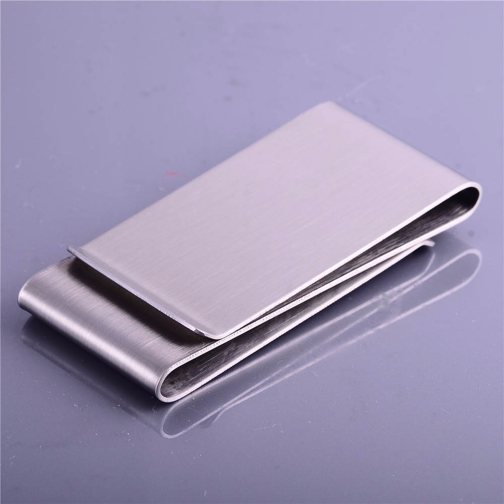 Cheap Promotional Logo Printed Metal Flat Money Clip