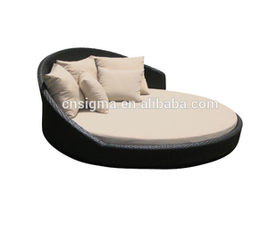 2017 Sigma luxury bedroom furniture king size lounge bed indoor round daybed