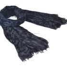 wide plain solid color thin woven rayon scarf