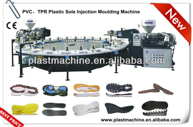 Semi Automatic Rotary Plastic Pvc Tpr Sole Rotary