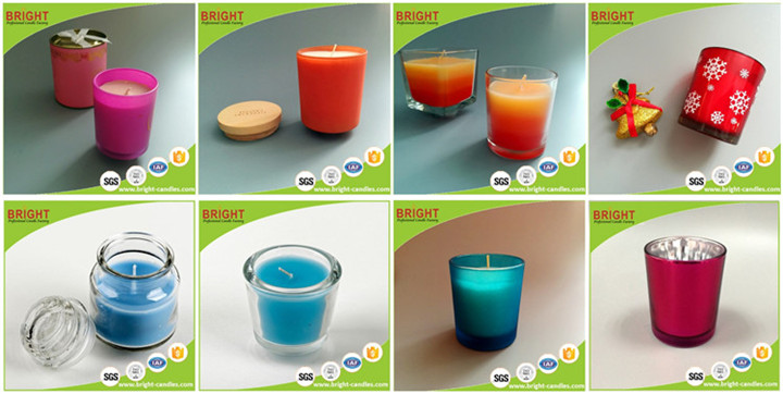 Luxury candle jars candle holder glass tealight candle holder