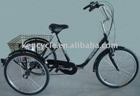 24 INCH Tricycle three alloy wheels 6SP FRONT V BRAKE REAR BAND BRAKE /ADULT TRICYCLE BICYCLE TRICYCLE BIKE SY-TR2401