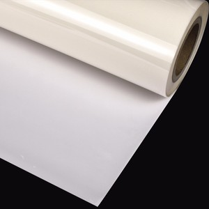 Light PET white transparent retro reflective film vinyl for heat transfer printing on clothing