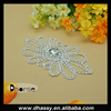 Wholesale silver diamond rhinestone embellishment appliques for wedding dress