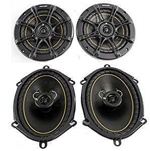 """2) Kicker DS60 6.5"""" 200 Watt+ 2) DS68 6x8"""" 140W 2-Way Car Coaxial Audio Speakers"""