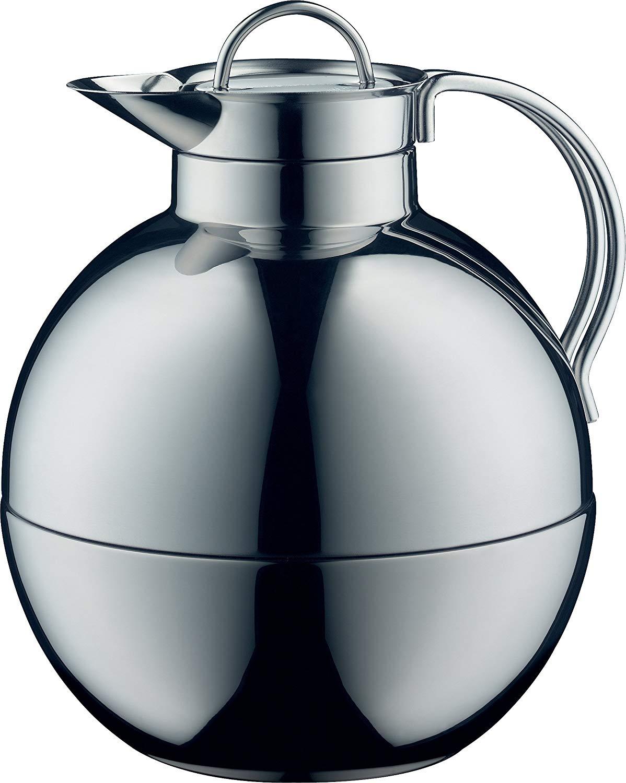 Vintage Indigo 0.94 L alfi Kugel Glass Vacuum Frosted Plastic Thermal Carafe for Hot and Cold Beverages