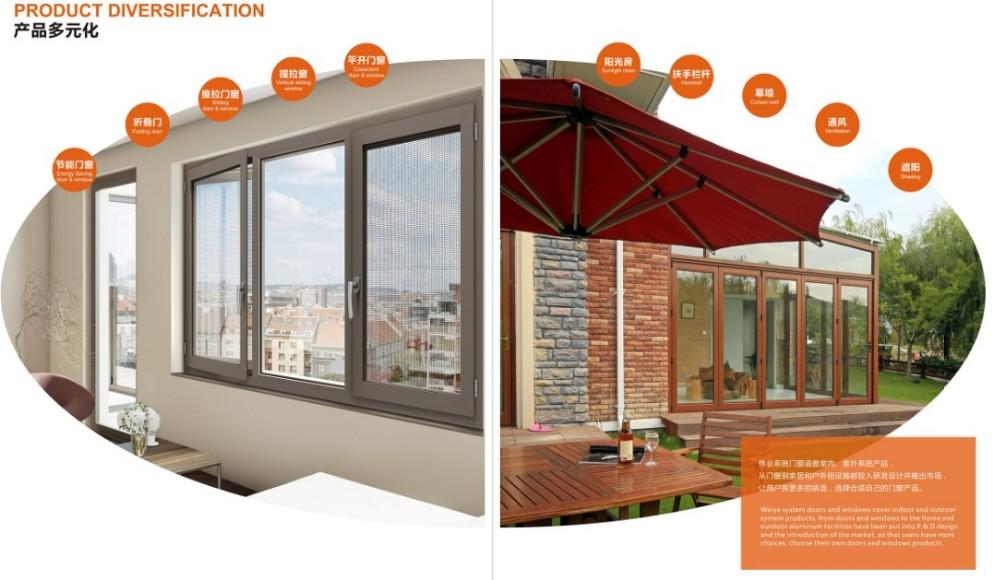 Competitive price aluminum folding door folding patio doors for villa use