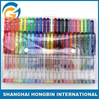48 Colors Gel Pen Set in PVC bag with Customized Logo Printed