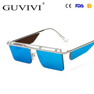 bc17d106920 GUVIV sunglasses for women Mirror new fashion custom sunglasses flat gold  sunglasses 2018