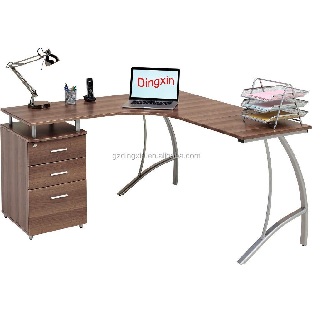 L Shaped Corner Computer Desk For 2 Computers Buy Computer Desk