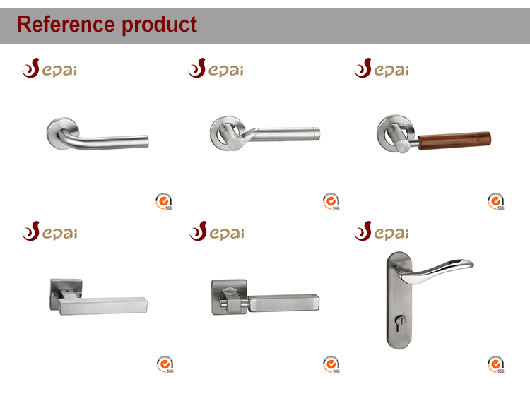 High quality interior stainless steel lever type handle round solid bar Door handle