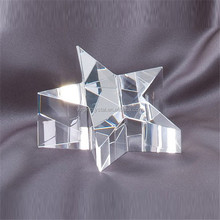 Cristal Glass Star Paperweight Customized Wedding Souvenirs