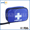 Blue color waterproof medical vehicle and general purpose first aid kit with handle for travel outdoor sport