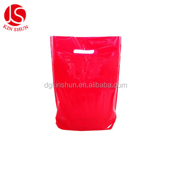 Plastic die cut package LDPE shopping packaging bags
