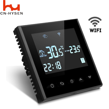 HY03WE-4 WiFi Smart Heating Room Thermostat for Ios / Android adjustable thermostat temperature control