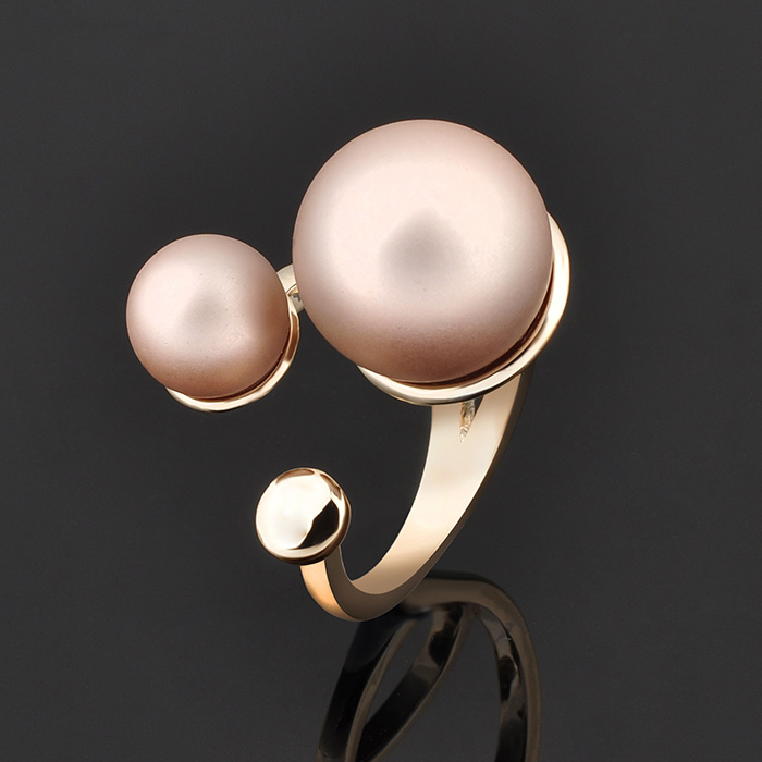 China Supplier Pearl Ring Designs For Men