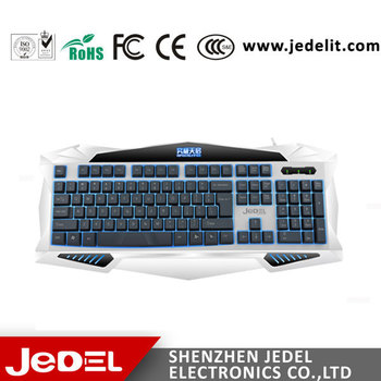 9f5335f9b04 Backlight Keyboard Illuminated USB White Keycap Gaming Keyboard for PC  Laptop Gamer