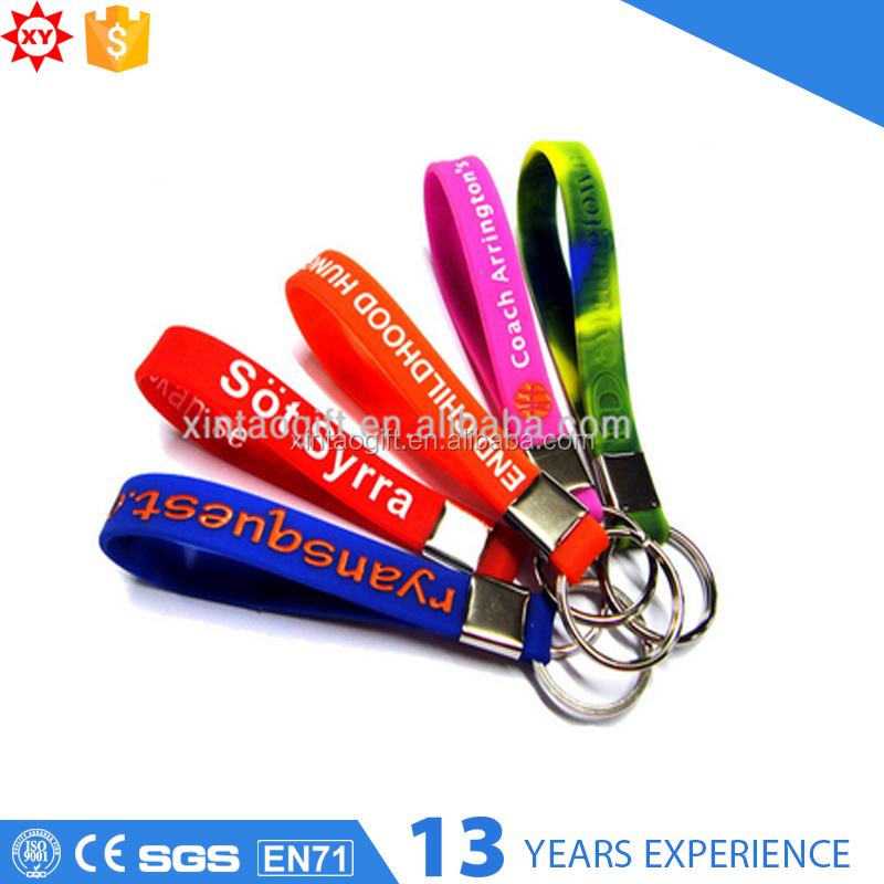 Custom colorful Soft PVC/Rubber material Key Chian