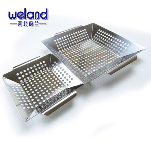 Stainless Steel Vegetable BBQ Grilling Basket With FDA certificate