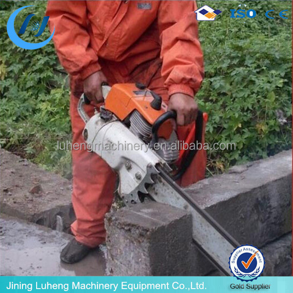 Handheld gasoline Chain saw,quarry stone block cutting machine