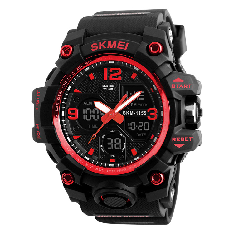Wholesale Skmei #1155 Men Sport Watch 2016 Hot Selling Fashion Analog Sport Digital Wristwatch Made In China Watch Factory, 4 colors